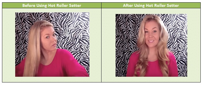 Hair Setter Create loose curls for making volume