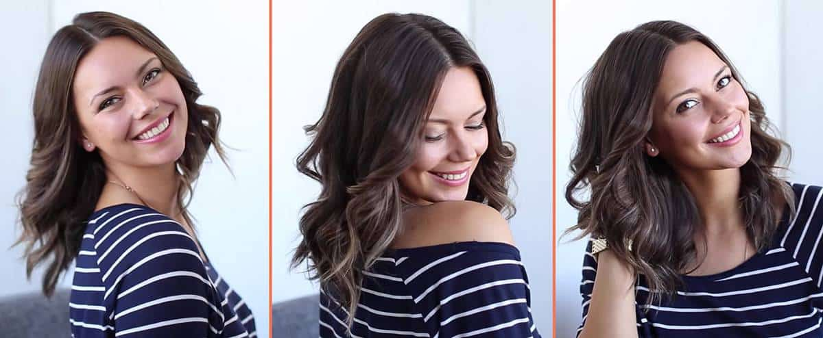 Medium curls in shoulder length hair