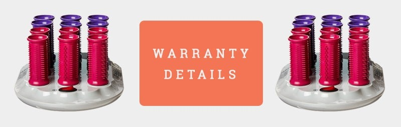 Warranty details Banner Of Calista Tools Ion Hot Rollers (Short Style Set)