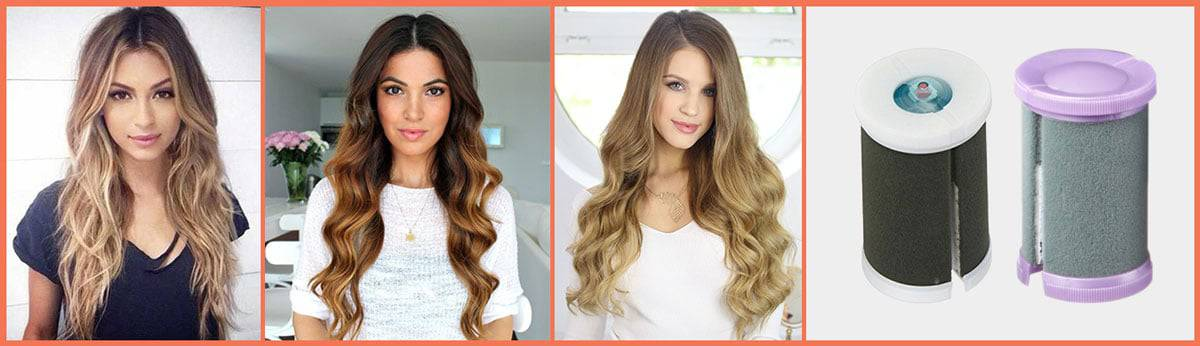 Hot Roller Hairstyles for Long Hair