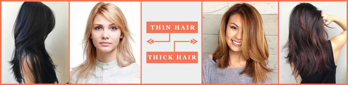 Thin hair and thick hair