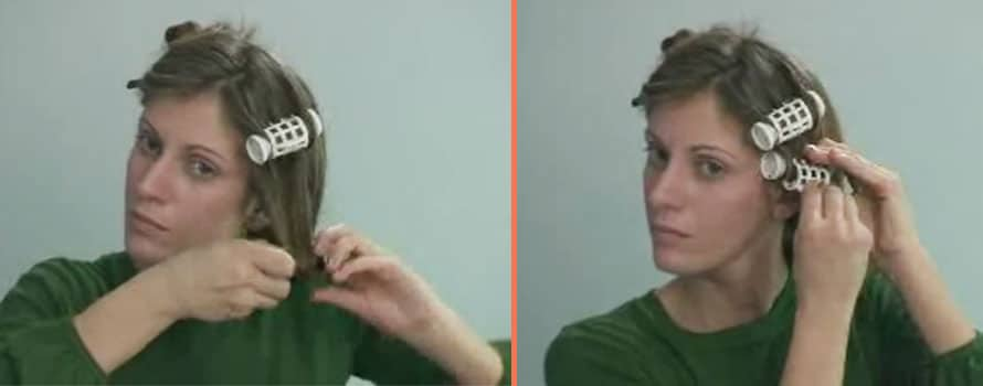 Rolling Up Hair By Using Hot Roller