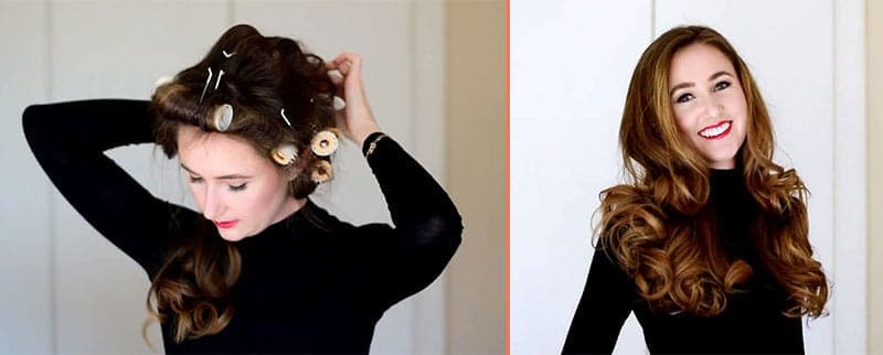 Thick And Voluminous Hair By Using Hot Roller