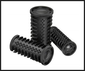 Ribbed plastic rollers