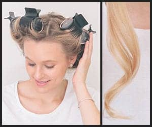 Using hot rollers for curling fine hair