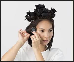 Using Hot Rollers in Short Hair