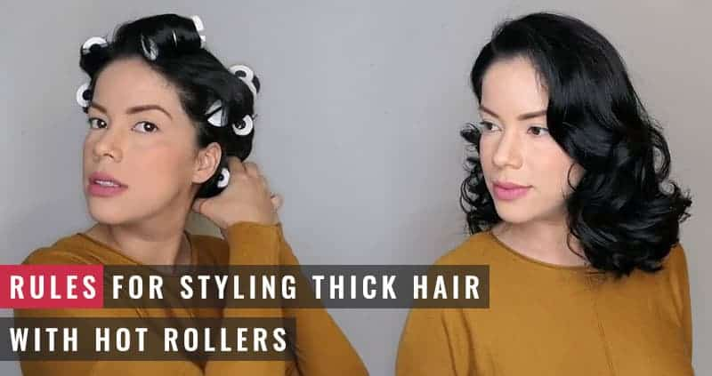 Featured Image of Rules for Styling Thick Hair With Hot Rollers