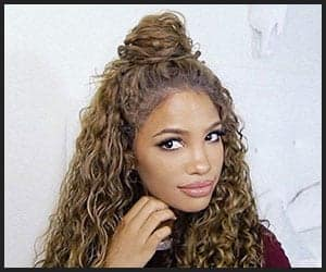 Half-up Bun Curly Hairstyle