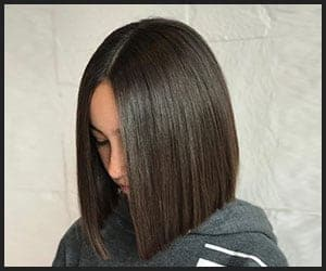 Sleek Bob With a Middle Part