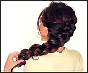 Faux Lose Messy Side Braid