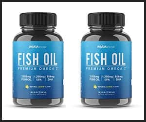 MAV Nutrition Premium Fish Oil Omega 3