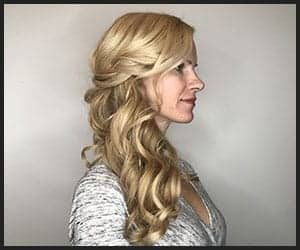 Angelic Side Swept Curls