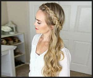 Beachy Wavy Hair With a Side-swept Dutch Braid