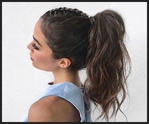 Braided Messy Ponytail
