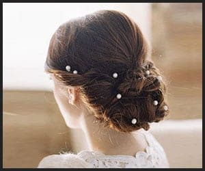 Bridal Bun With Pearls