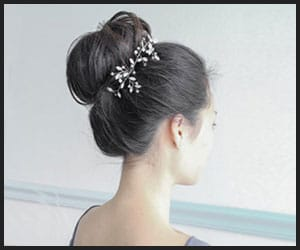 Classic High Bun With Hair Accessory