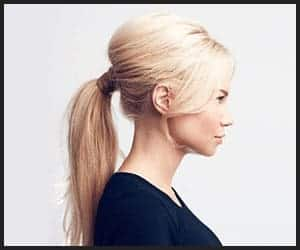 Classic Ponytail With Hair Wrap