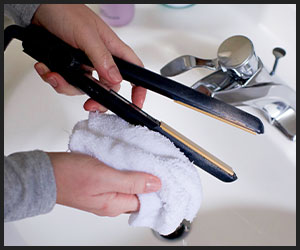 cleaning hair tools