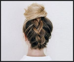 Dramatic Reverse Fishtail Topknot