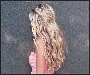 Dreamy Fishtail Halo Hairstyle