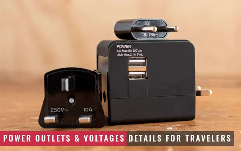 Featured Image of Power Outlets and Voltages Details for Travelers