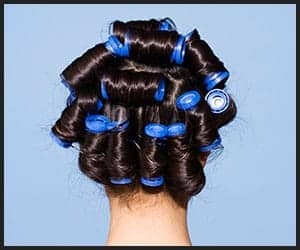 Hair Styling With Hot Rollers