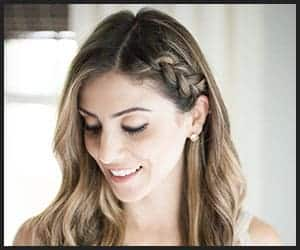 Half-up Braid With a Side Part Hairstyle