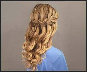 Half-up Dutch Braid With Bouncy Curls