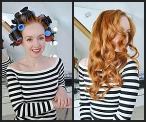 Loose Curl With Hot Rollers
