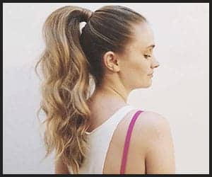 Loose High Ponytail