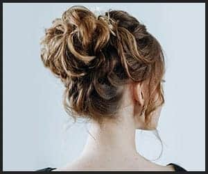 Messy, Curly Chignon Bun