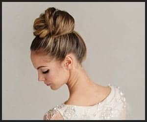 Messy Top Knot High Bun