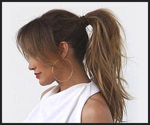 Pony Tail With Bangs