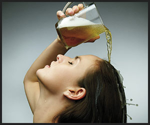 rinse hair with beer