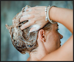 shampoo and conditioning hair
