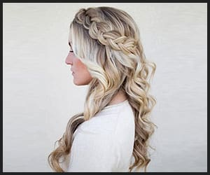 Side Swept Dutch Braid With Loose Curls