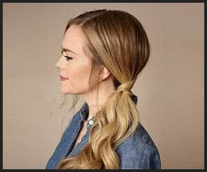 Side Swept Low Ponytail