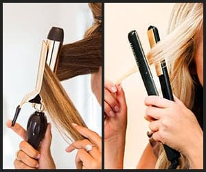 Styling Hair With Curling Iron & Flat Iron
