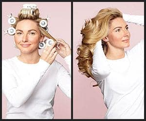 Styling Hair With Hot Rollers