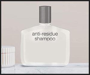use a non-residue shampoo