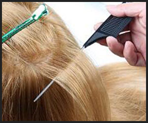 using comb for sectioning hair