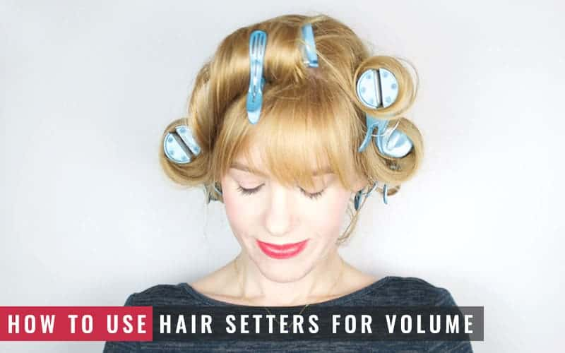 Featured Image of How to Use Hair Setters for Volume