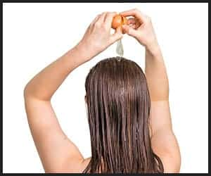 Using Egg for Thickening Hair