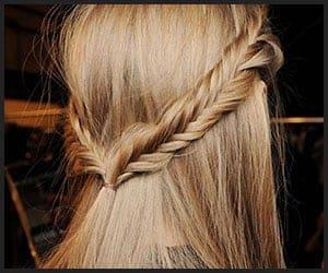 Half-back herringbone braid