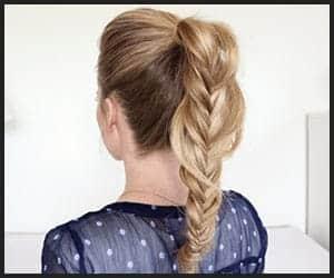 Ponytail style herringbone braid