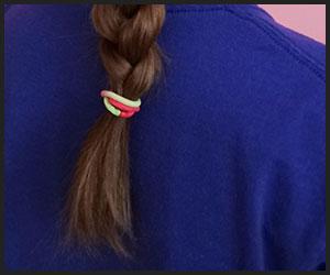 secure Braided hair by hairband